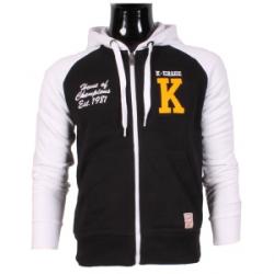 Vest hoodie color contrasting black