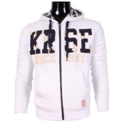 Vest sweatshirt zip hoodie and white cord