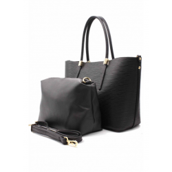 Reversible Handbag with Removable Pouch