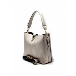 Reversible Handbag with Removable Pouch 6426-1-Gun
