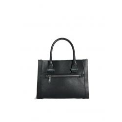 Cowhide Leather Handbag 4405-Black