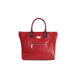 Large Handbag with Shoulder Leather Strap 4408-Bordeaux