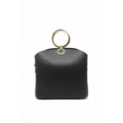 Handbag with Shoulder Strap 6487-Black
