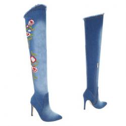 Bottes fourrées femme - bleu