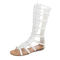 Sandales plates pour femmes - camel