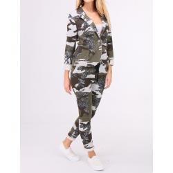 Military lurex jacket