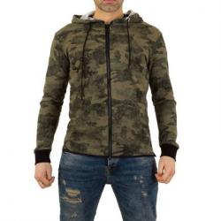 Men's sweat jacket by Uniplay - khaki