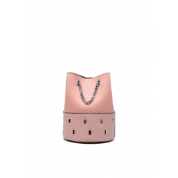 Bucket Bag with Metal Chain