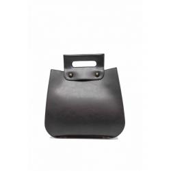 Studded Leather Effect Handbag with Pochette