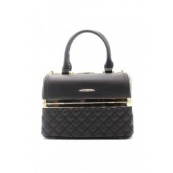 Stylish Handbag with Metal Barrette Effect Padded (Large)