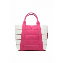BAG Tote Leather Effect with Stripes