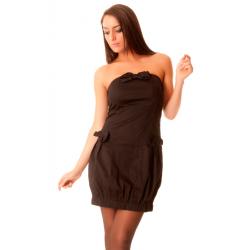 Belle robe noire avec 3 noeuds de papillon