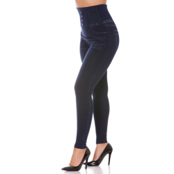 Leggings thin blue jeans slimming high waist imitation