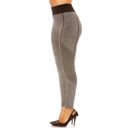 Heather gray leggings, high waisted